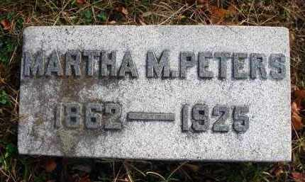 PETERS, MARTHA M. - Franklin County, Ohio | MARTHA M. PETERS - Ohio Gravestone Photos