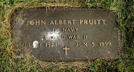 PRUITT, JOHN ALBERT - Franklin County, Ohio | JOHN ALBERT PRUITT - Ohio Gravestone Photos