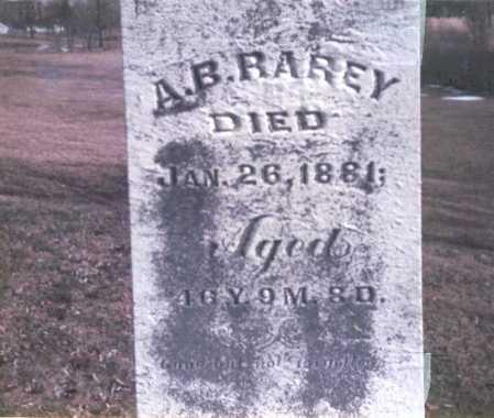 RAREY, A. B. - Franklin County, Ohio | A. B. RAREY - Ohio Gravestone Photos
