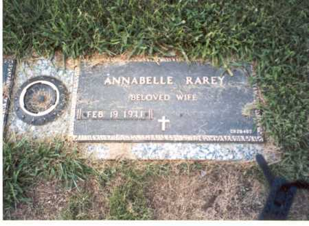 RAREY, ANNABELLE - Franklin County, Ohio | ANNABELLE RAREY - Ohio Gravestone Photos