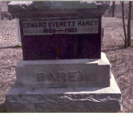 RAREY, EDWARD EVERETT - Franklin County, Ohio | EDWARD EVERETT RAREY - Ohio Gravestone Photos