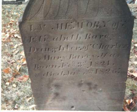 RAREY, ELIZABETH - Franklin County, Ohio | ELIZABETH RAREY - Ohio Gravestone Photos