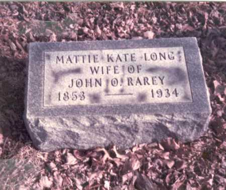 RAREY, MATTIE KATE - Franklin County, Ohio | MATTIE KATE RAREY - Ohio Gravestone Photos