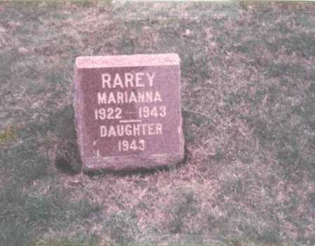 RAREY, MARIANNA - Franklin County, Ohio | MARIANNA RAREY - Ohio Gravestone Photos