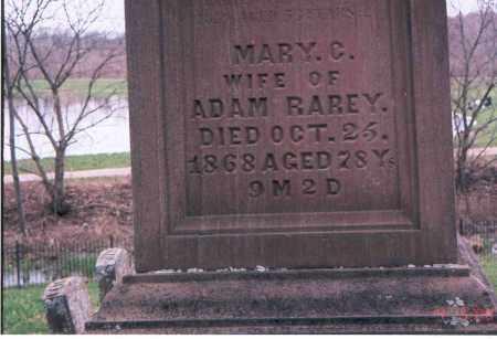 PONTIUS RAREY, MARY CATHARINE - Franklin County, Ohio | MARY CATHARINE PONTIUS RAREY - Ohio Gravestone Photos
