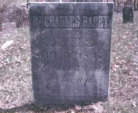 RAREY, REV. CHARLES - Franklin County, Ohio | REV. CHARLES RAREY - Ohio Gravestone Photos