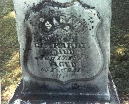 RAREY, SARAH - Franklin County, Ohio | SARAH RAREY - Ohio Gravestone Photos