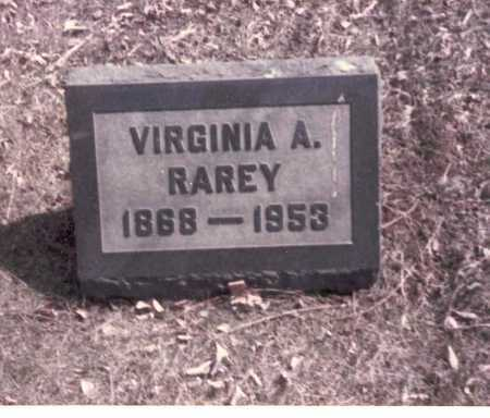 WRIGHT RAREY, VIRGINIA A. - Franklin County, Ohio | VIRGINIA A. WRIGHT RAREY - Ohio Gravestone Photos