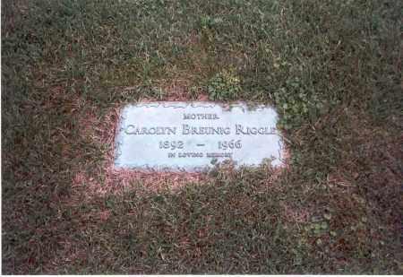 BREUNIG RIGGLE, CAROLYN E. - Franklin County, Ohio | CAROLYN E. BREUNIG RIGGLE - Ohio Gravestone Photos