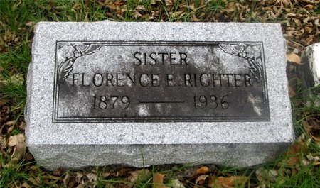 RIGHTER, FLORENCE ELSIE - Franklin County, Ohio | FLORENCE ELSIE RIGHTER - Ohio Gravestone Photos