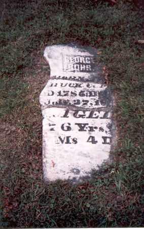 ROHR, GEORGE - Franklin County, Ohio | GEORGE ROHR - Ohio Gravestone Photos