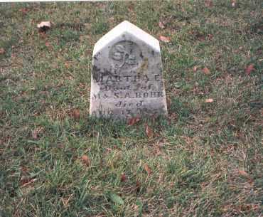 ROHR, MARTHA E. - Franklin County, Ohio | MARTHA E. ROHR - Ohio Gravestone Photos