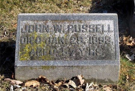 RUSSELL, JOHN W. - Franklin County, Ohio | JOHN W. RUSSELL - Ohio Gravestone Photos