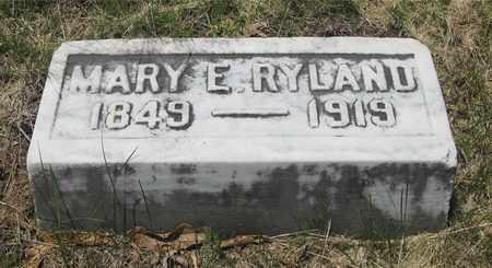RYLAND, MARY E. - Franklin County, Ohio | MARY E. RYLAND - Ohio Gravestone Photos