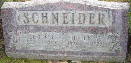 SCHNEIDER, ELMER L - Franklin County, Ohio | ELMER L SCHNEIDER - Ohio Gravestone Photos