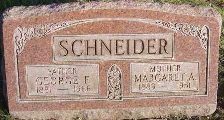 SCHNEIDER, MARGARET A - Franklin County, Ohio | MARGARET A SCHNEIDER - Ohio Gravestone Photos
