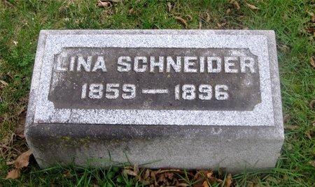 SCHNEIDER, LINA - Franklin County, Ohio | LINA SCHNEIDER - Ohio Gravestone Photos