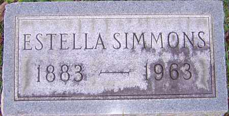 SIMMONS, ESTELLA - Franklin County, Ohio | ESTELLA SIMMONS - Ohio Gravestone Photos