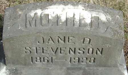 STEVENSON, MARY JANE - Franklin County, Ohio   MARY JANE STEVENSON - Ohio Gravestone Photos