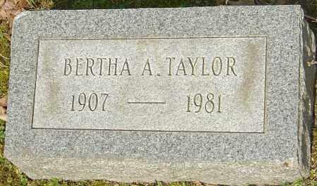 TAYLOR, BERTHA A - Franklin County, Ohio | BERTHA A TAYLOR - Ohio Gravestone Photos