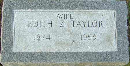 TAYLOR, EDITH Z - Franklin County, Ohio   EDITH Z TAYLOR - Ohio Gravestone Photos