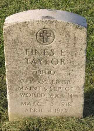 TAYLOR, FINES E. - Franklin County, Ohio | FINES E. TAYLOR - Ohio Gravestone Photos