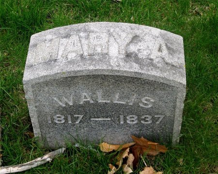 BURNHAM WALLIS, MARY A. - Franklin County, Ohio | MARY A. BURNHAM WALLIS - Ohio Gravestone Photos