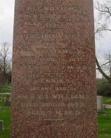 WILLIAMS, JENNIE I. - Franklin County, Ohio | JENNIE I. WILLIAMS - Ohio Gravestone Photos