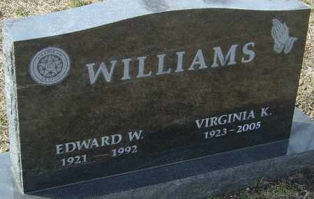 WILLIAMS, VIRGINIA K - Franklin County, Ohio | VIRGINIA K WILLIAMS - Ohio Gravestone Photos