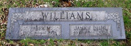 WILLIAMS, FABER M. - Franklin County, Ohio | FABER M. WILLIAMS - Ohio Gravestone Photos
