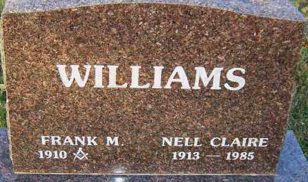 WILLIAMS, NELL CLAIRE - Franklin County, Ohio   NELL CLAIRE WILLIAMS - Ohio Gravestone Photos