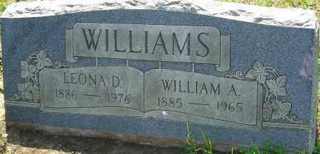 WILLIAMS, WILLIAM A - Franklin County, Ohio | WILLIAM A WILLIAMS - Ohio Gravestone Photos