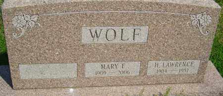 WOLF, MARY E - Franklin County, Ohio | MARY E WOLF - Ohio Gravestone Photos