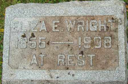 WRIGHT, ELIZA ELLEN - Franklin County, Ohio | ELIZA ELLEN WRIGHT - Ohio Gravestone Photos