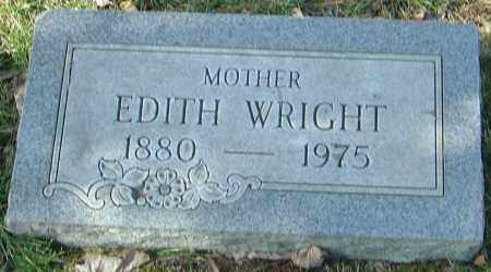 WRIGHT, EDITH - Franklin County, Ohio | EDITH WRIGHT - Ohio Gravestone Photos