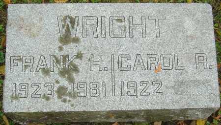 WRIGHT, FRANK H - Franklin County, Ohio | FRANK H WRIGHT - Ohio Gravestone Photos