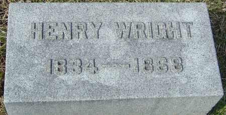 WRIGHT, HENRY - Franklin County, Ohio | HENRY WRIGHT - Ohio Gravestone Photos
