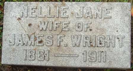 WRIGHT, NELLIE JANE - Franklin County, Ohio | NELLIE JANE WRIGHT - Ohio Gravestone Photos