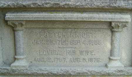 WRIGHT, POTTER - Franklin County, Ohio   POTTER WRIGHT - Ohio Gravestone Photos