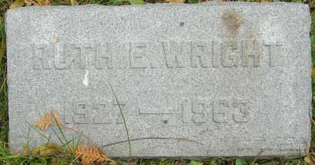 WRIGHT, RUTH E - Franklin County, Ohio   RUTH E WRIGHT - Ohio Gravestone Photos