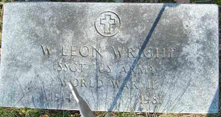 WRIGHT, W LEON - Franklin County, Ohio | W LEON WRIGHT - Ohio Gravestone Photos