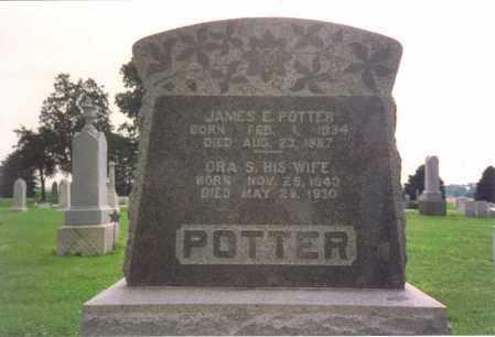 POTTER, ORA SAPHRONIA - Fulton County, Ohio | ORA SAPHRONIA POTTER - Ohio Gravestone Photos