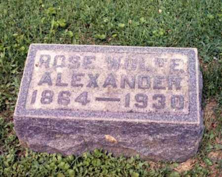 ALEXANDER, ROSE - Gallia County, Ohio | ROSE ALEXANDER - Ohio Gravestone Photos