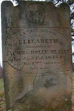 BLAZER, ELIZABETH - Gallia County, Ohio | ELIZABETH BLAZER - Ohio Gravestone Photos