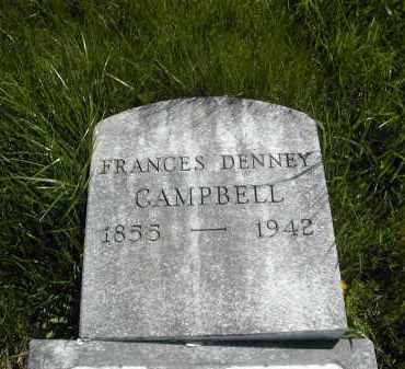 DENNEY CAMPBELL, FRANCES - Gallia County, Ohio | FRANCES DENNEY CAMPBELL - Ohio Gravestone Photos