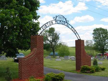 CEMETERY SIGN, VINTON MEMORIAL PARK - Gallia County, Ohio | VINTON MEMORIAL PARK CEMETERY SIGN - Ohio Gravestone Photos