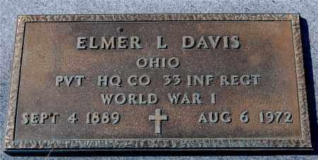 DAVIS, ELMER L - Gallia County, Ohio | ELMER L DAVIS - Ohio Gravestone Photos