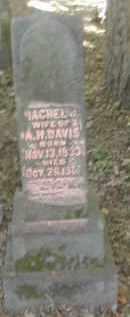 DAVIS, RACHEL - Gallia County, Ohio   RACHEL DAVIS - Ohio Gravestone Photos