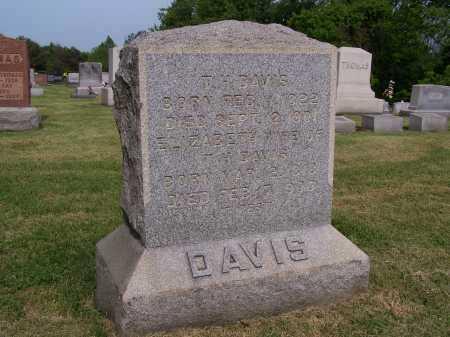 DAVIS, T H (THOMAS) - Gallia County, Ohio   T H (THOMAS) DAVIS - Ohio Gravestone Photos