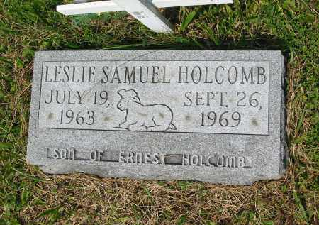 HOLCOMB, LESLIE SAMUEL - Gallia County, Ohio | LESLIE SAMUEL HOLCOMB - Ohio Gravestone Photos